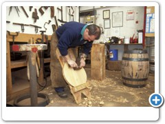Alastair Simms one of the last coopers working at Wadworth Brewary at Devizes Wiltshire