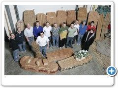Darrell Hill and his staff at the Sowerset Willow Company, Bridgewater.
