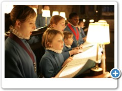 Choristers practicing in Wells Cathedral