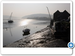 Low tide on a winters day at St Germans in Cornwall