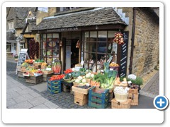 A village shop in the Cotswold village of Broadway