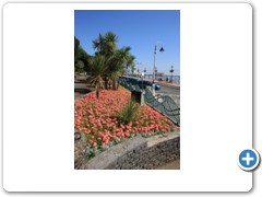 The Italian Gardens on the along the sea front at Penarth South Wales