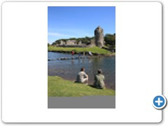 Stepping stones - below the Ruins of Ogmore Castle in South Wales