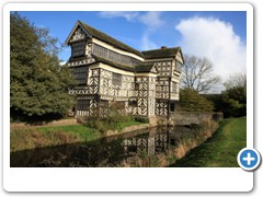 Little Moreton Hall with its moat