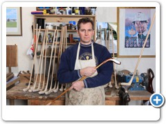 Sean Davies making traditional wooden golf clubs in his workshop at Chulmleigh in Devon.