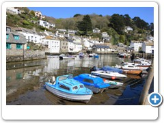 Low tide in the fishing village of Polperro Cornwall