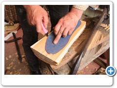 Jeremy Atkinson making Clogs in his workshop at Kington in Herefordshire